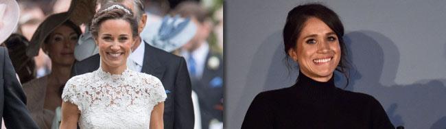 Meghan Markle schwarz auf Pippa Middletons Hochzeit