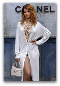 Rihanna auf Lagerfelds Chanel-Show