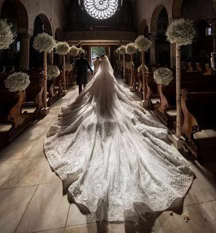 Victoria Swarovski's 800.000 Euro-Brautkleid