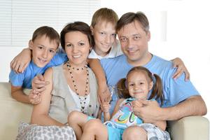 Große Familie und wenig Platz