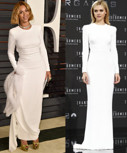 Beyoncé Nicola Peltz Fashionduell Kleid