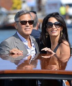 George Clooney und Amal Alamuddin Hochzeit
