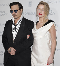 Johnny Depp und Amber Heard heiraten