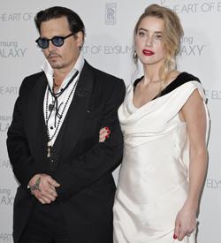 Johnny Depp und Amber Heard heiraten