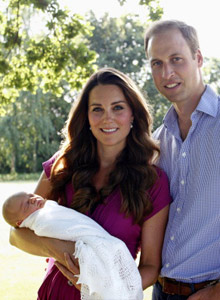 William und Kate Baby Taufe