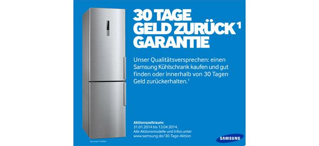 Samsung Aktion: 30-Tage-Geld-zurück-Garantie